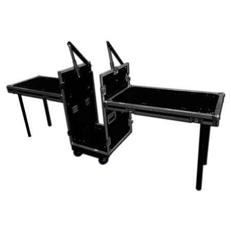 10u x 16u Mixer Rack Twin Table Flight Case