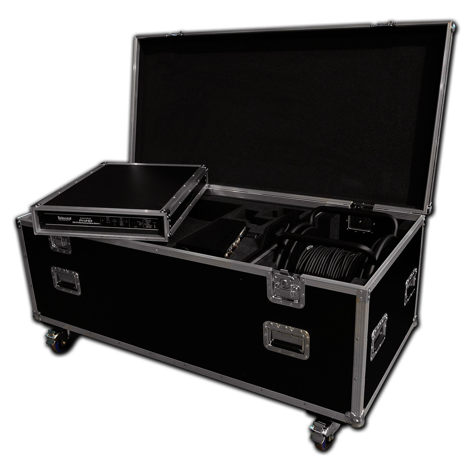 custom camcorder flight case with lens space cable drum. Black Bedroom Furniture Sets. Home Design Ideas