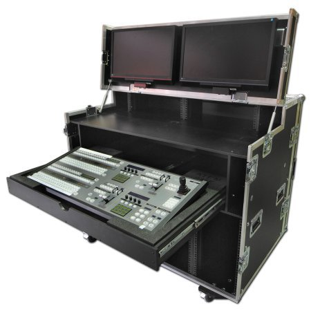 Twin 10u Production Workstation With Pull Out Drawer And TFT Mounting Facilities