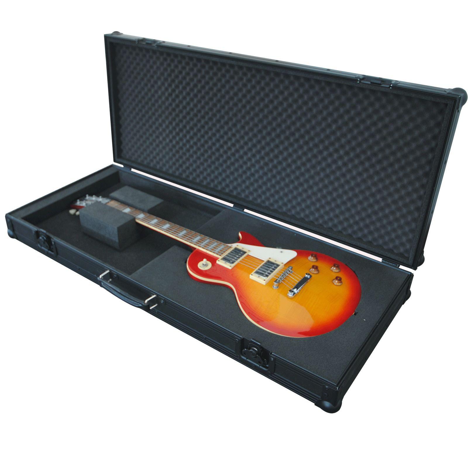 pro flightcase black edition les paul guitar flightcase. Black Bedroom Furniture Sets. Home Design Ideas