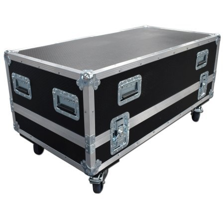 Twin Speaker Flightcase for Electrovoice SX 300 With 150mm Storage Compartment