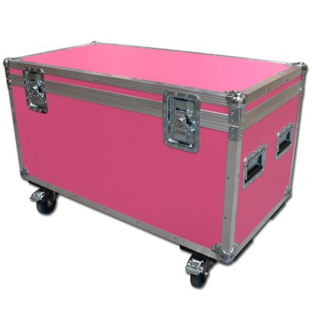 Cable Trunk Road Trunk Flight Cases (1200mm) In Pink
