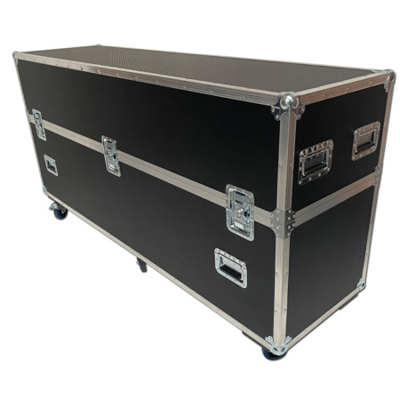32 Digital Signage Totem Flightcase for Jansen Display  Slim Digital Totem 32