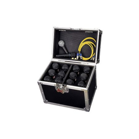 Road Ready 12 Way Microphone Flightcase