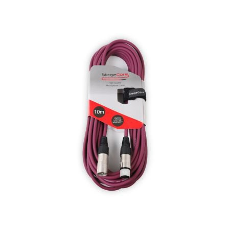 Stagecore 10m Female XLR To Male XLR Connector Purple
