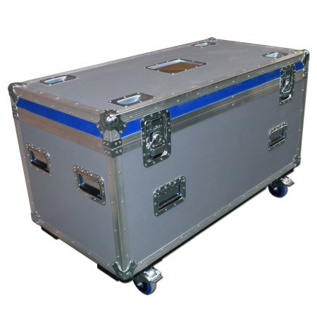 General Purpose Road Trunk Flightcase Grey With Blue Trim Lid