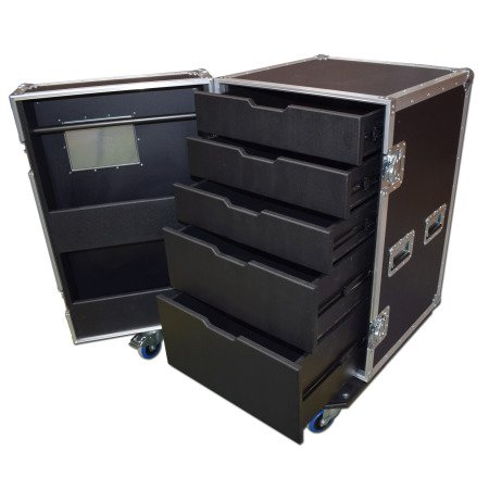 5 Drawer Backline Tool Flightcase