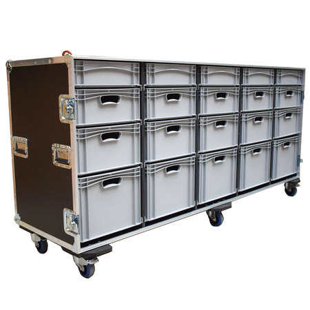 Large Production Flight Case With 20 Trays