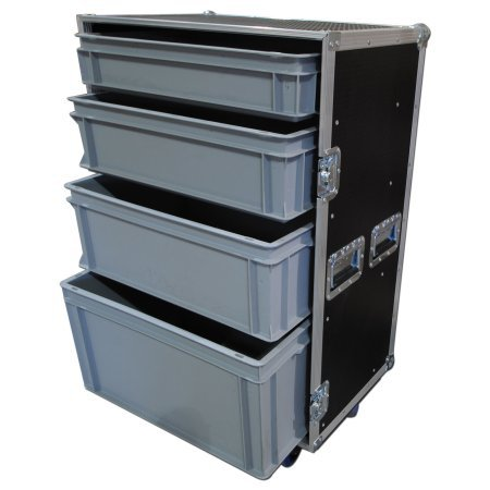 Custom Large 4 Drawer Production Flight Case