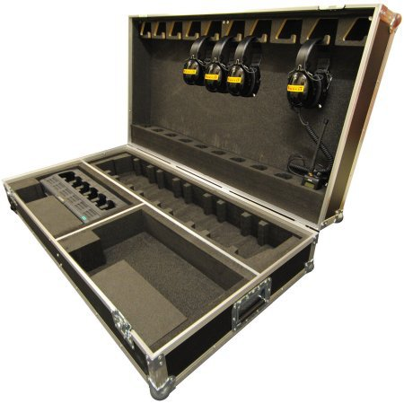 10 Way Radio Head Set Flight Case