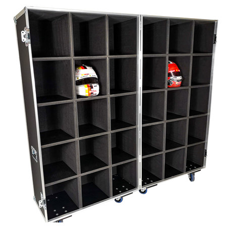 x30 Way Custom Motor Racing Helmet Rack
