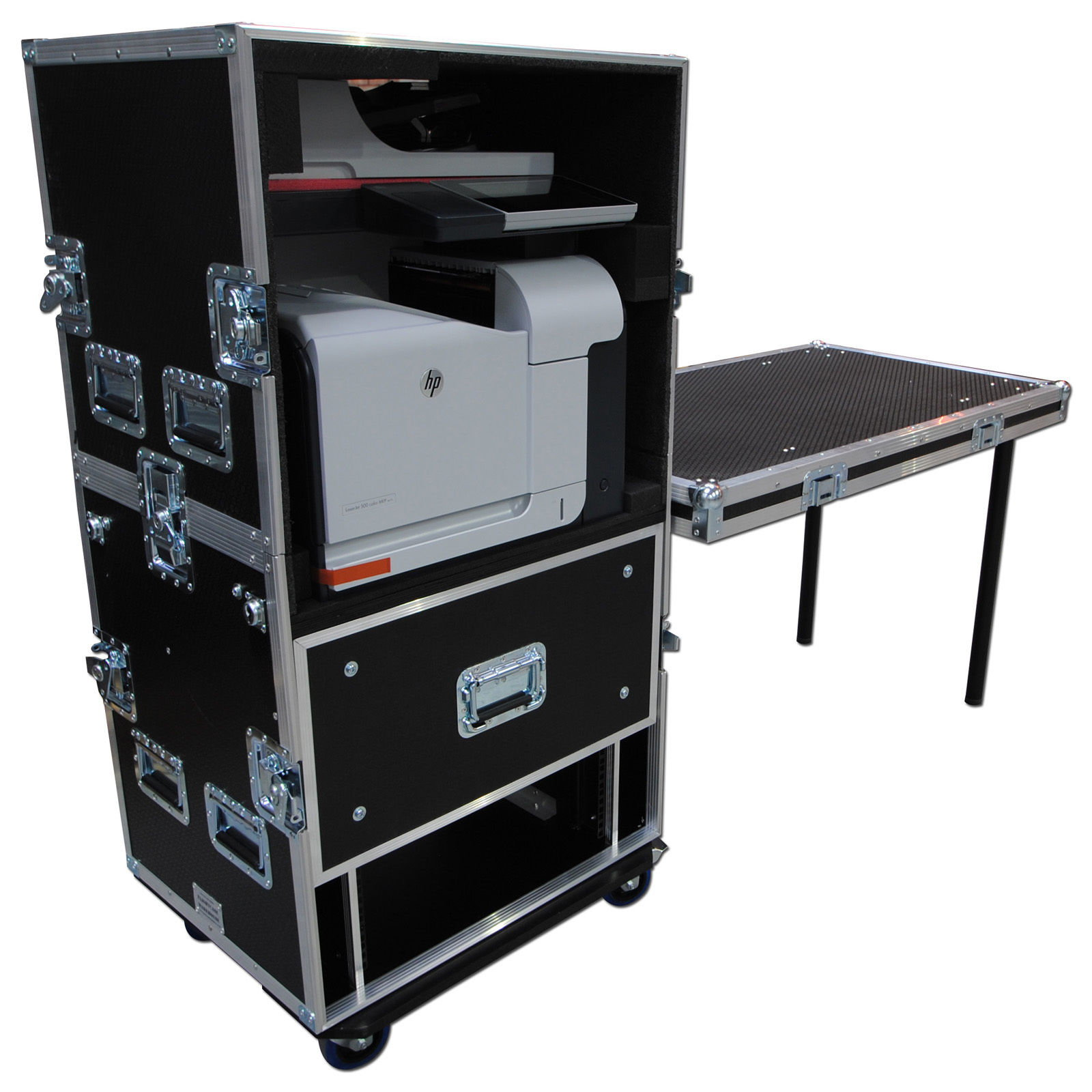 printer workstation flightcase. Black Bedroom Furniture Sets. Home Design Ideas