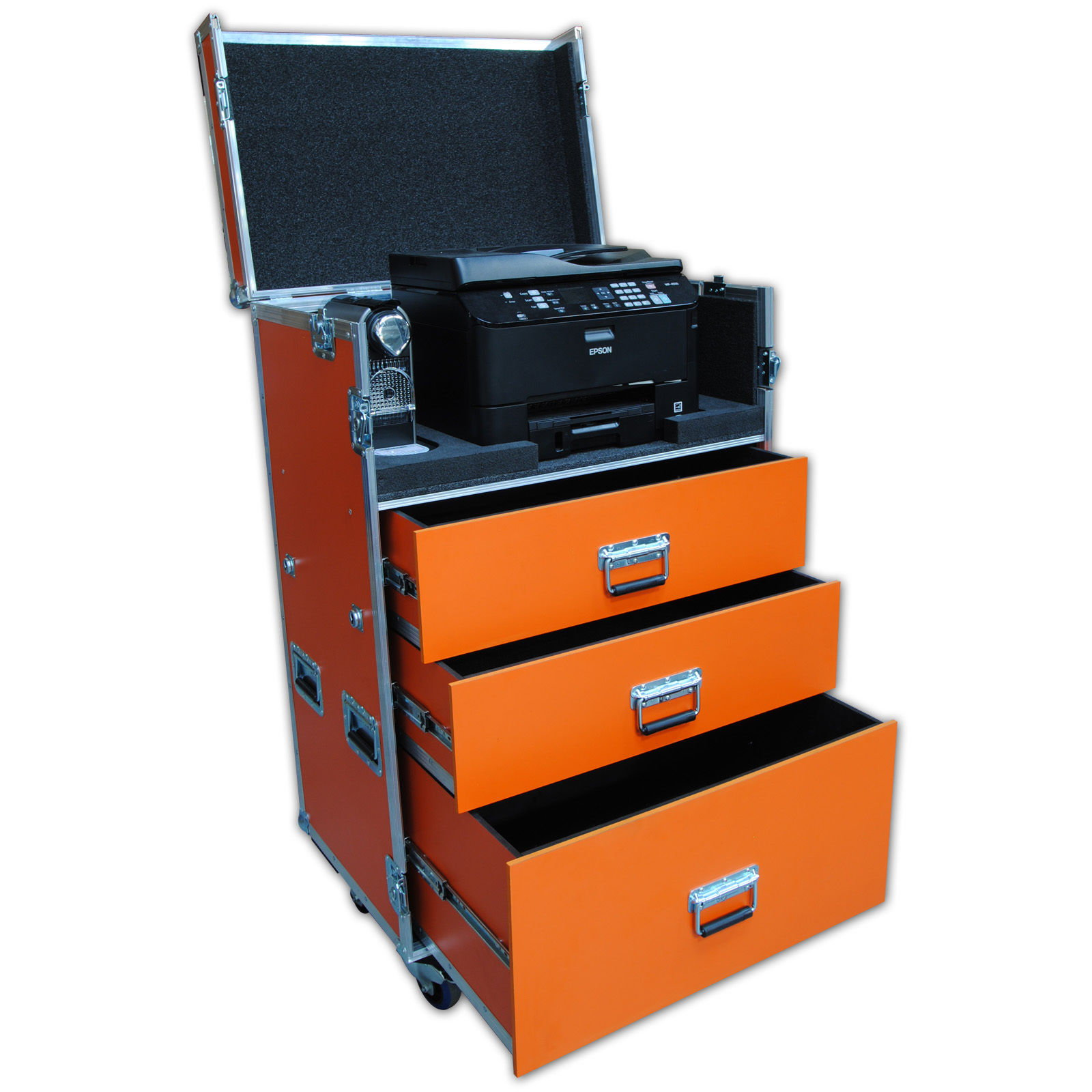 Custom Production Flight Case With Printer Router And