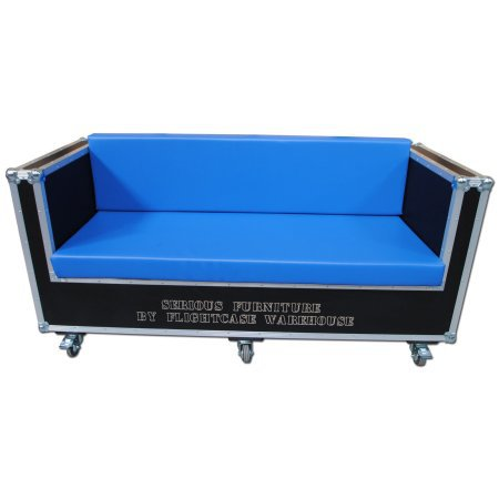 3 Seater Wood and Leather Sofa with Corporate Branding